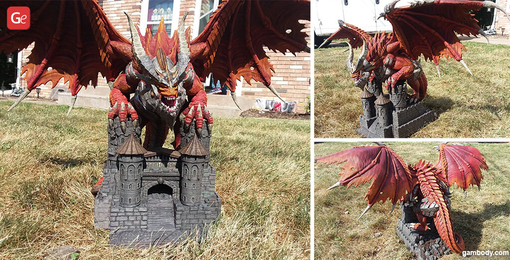 Deathwing dragon amazing 3D printed models