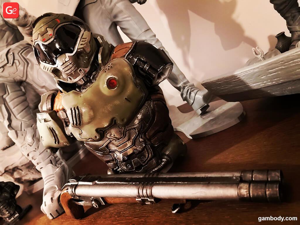 Doom Slayer gun 3D printed figure
