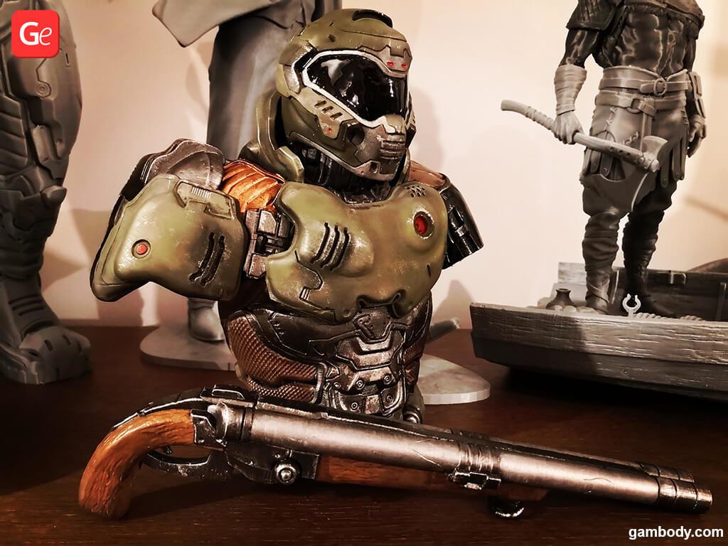 Torso of Doom Slayer figure for 3D printing