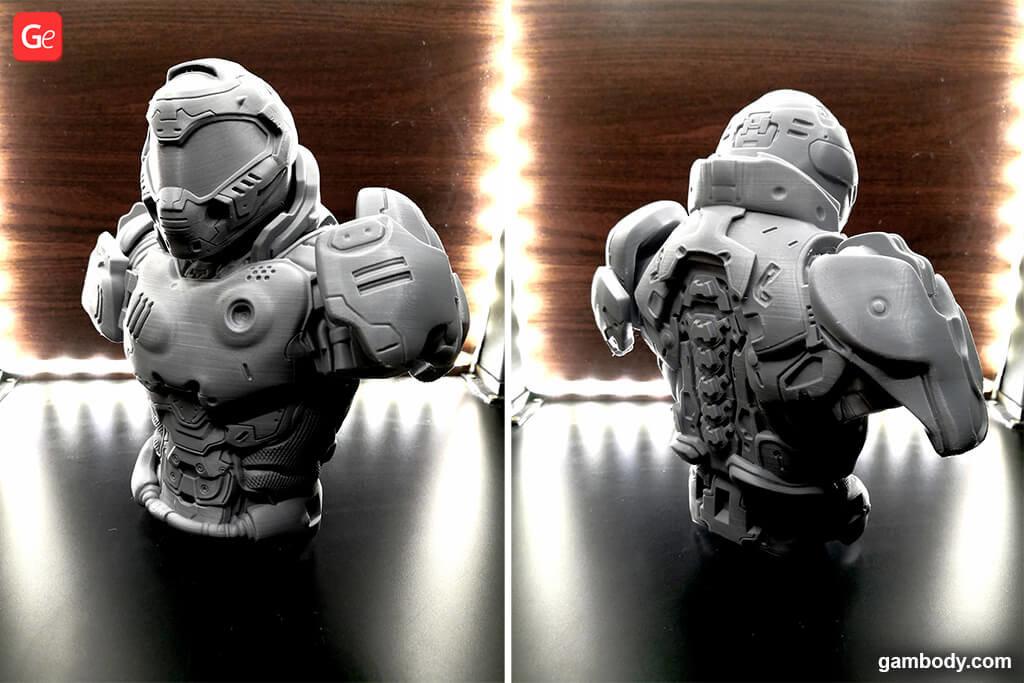 Doom Slayer 3D model for printing