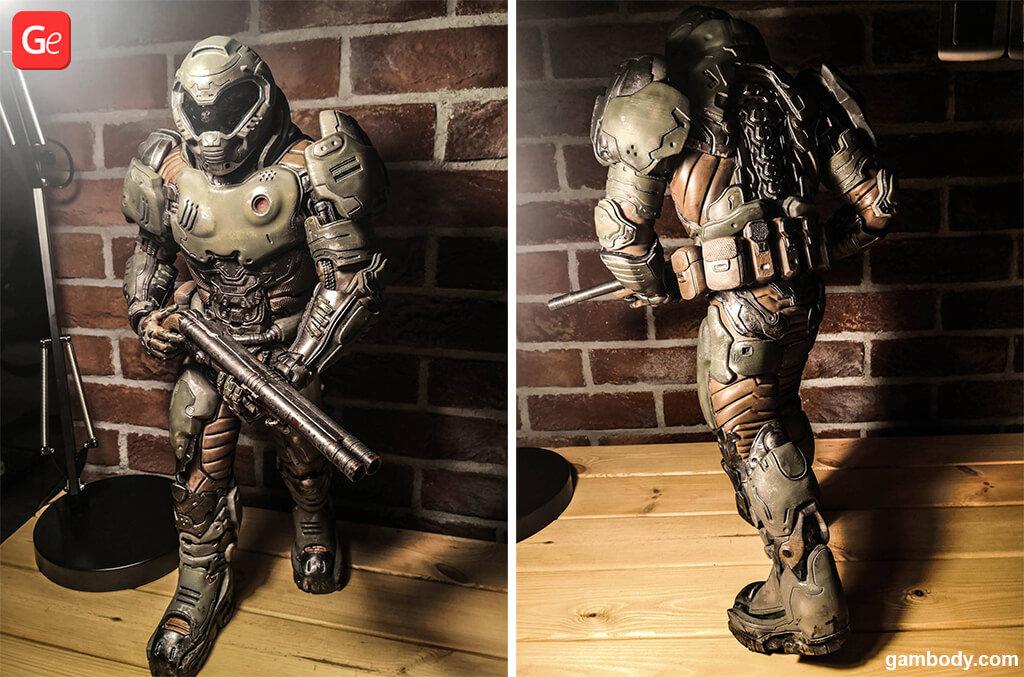 Guide on 3D printing Doom Slayer figure The Hell Walker