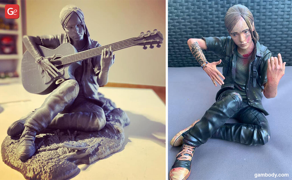The Last of Us Ellie with guitar popular models to 3D print