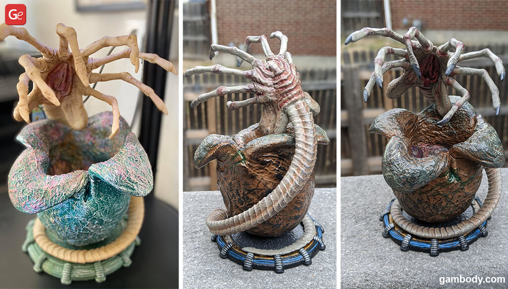 Facehugger and Egg 3D prints for Halloween