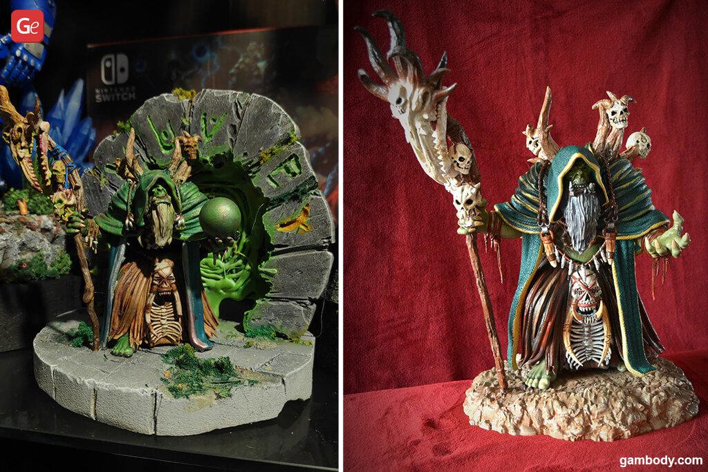 Gul'dan figurine impressive 3D prints