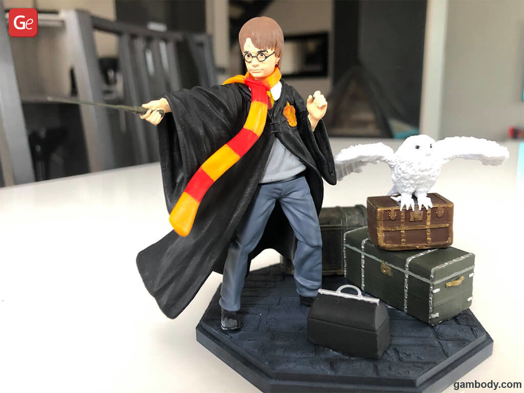Harry Potter 3D model printed