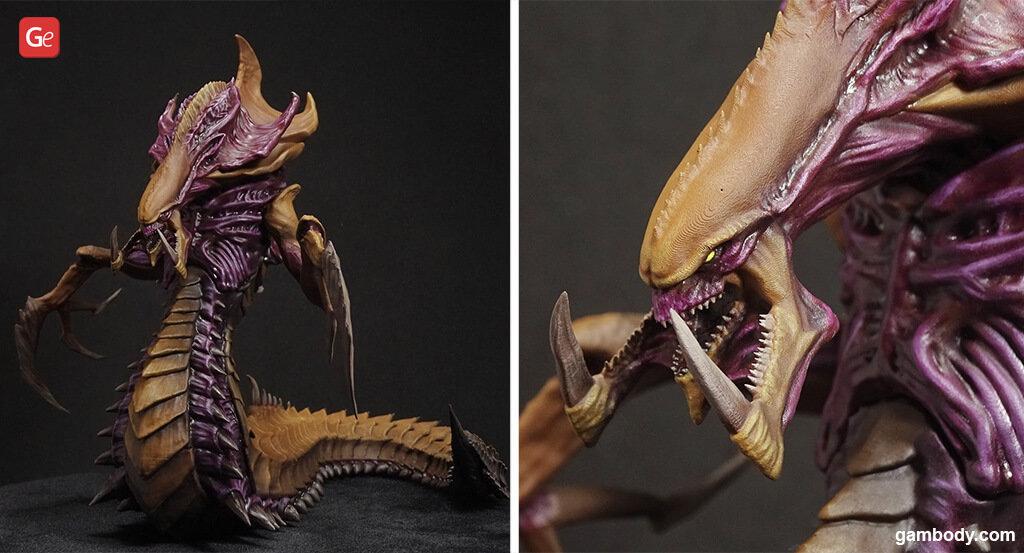Hydralisk figure from StarCraft 3D print