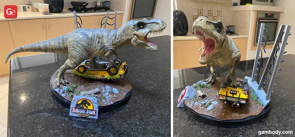 Impressive Jurassic Park dinosaur 3D print