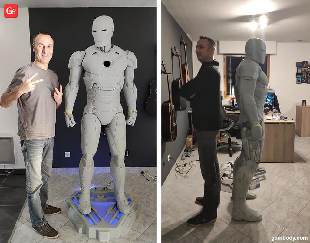 Life-size Iron Man statue 3D printed David Maeseele