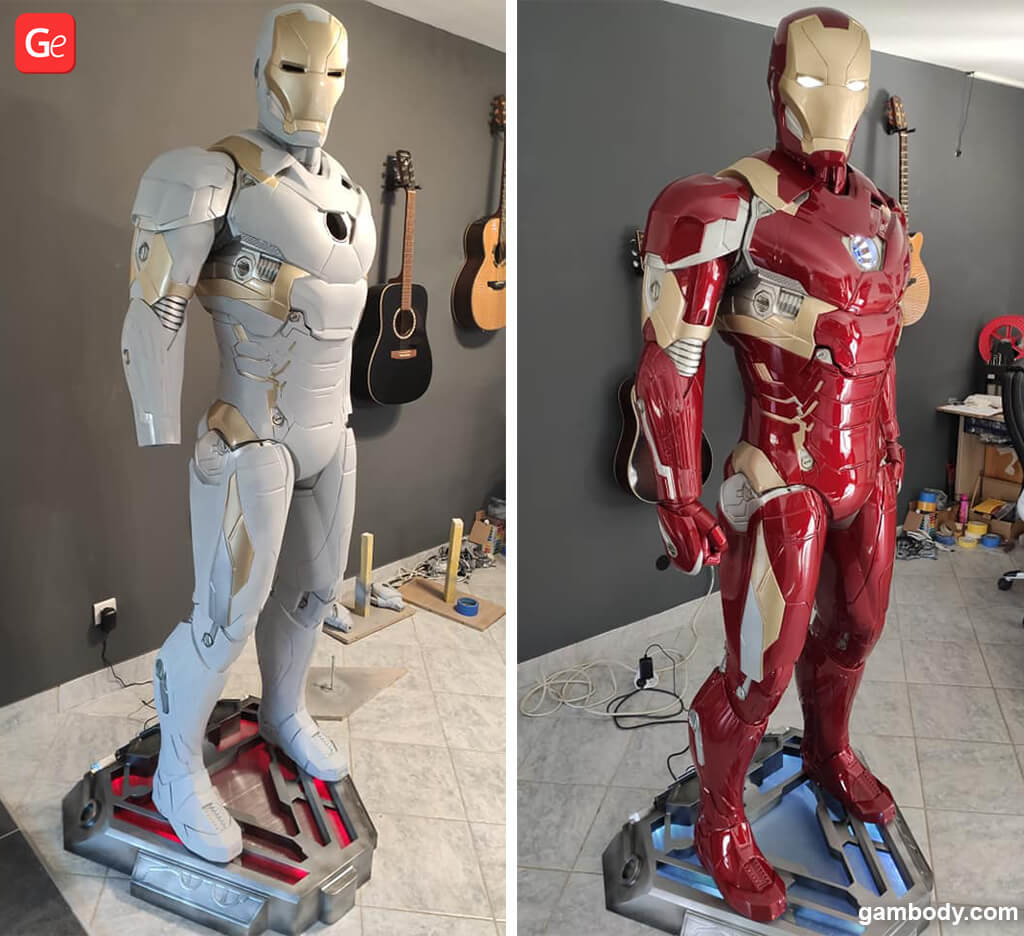 Life-size Marvel statues Iron Man