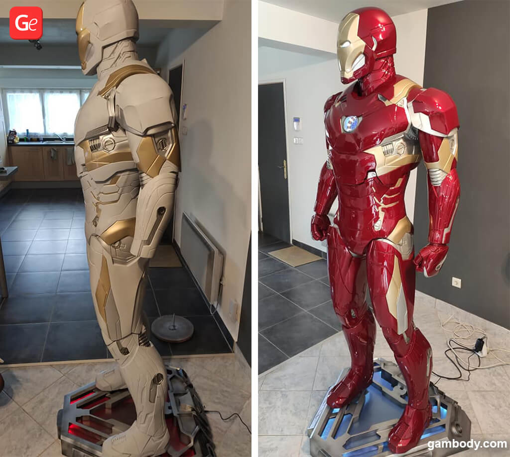 3D printed Iron Man figure