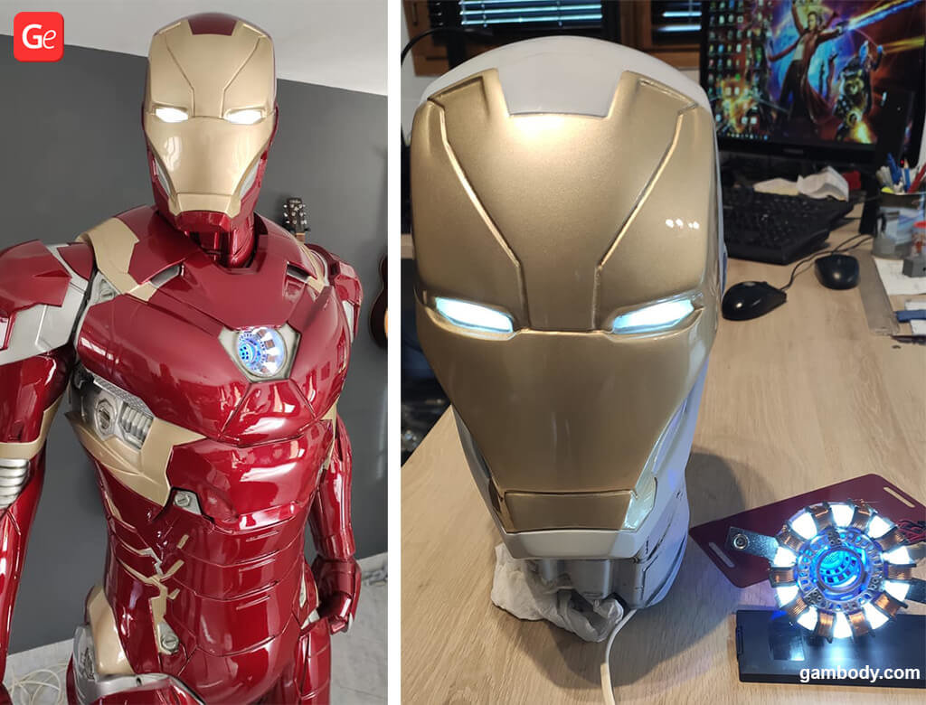 Adding LED lights to 3D printed Iron Man