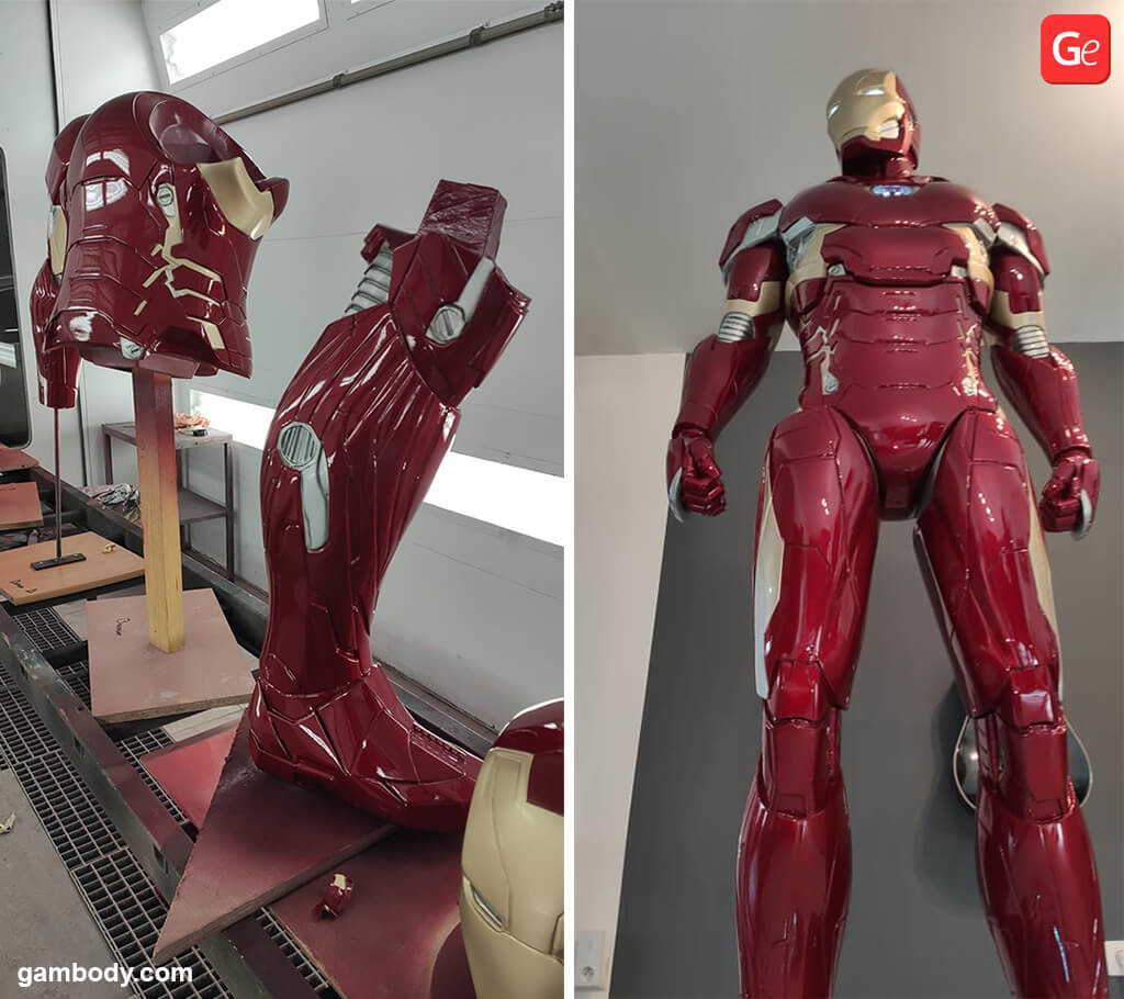 Painting Iron Man 3D printed figure guide
