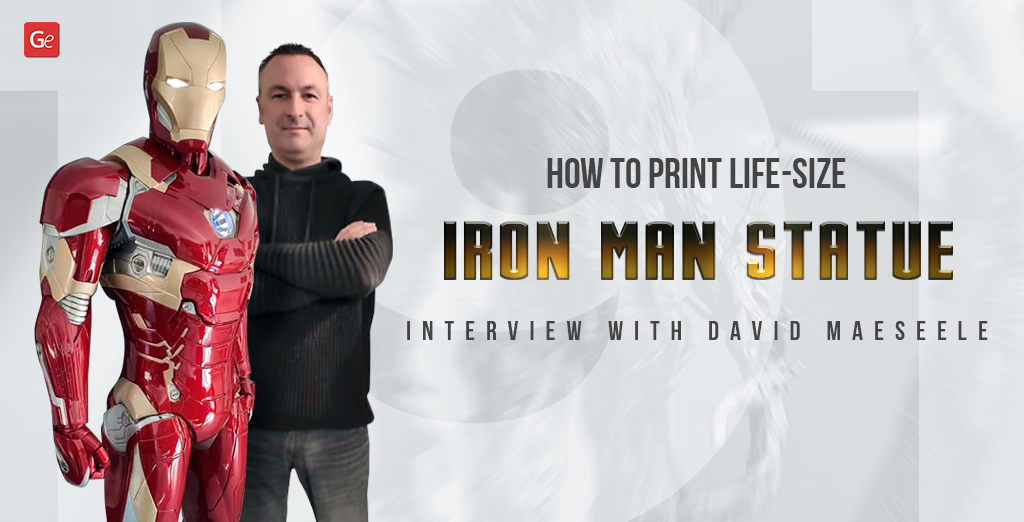 Life-size Iron Man statue 3D printing tips