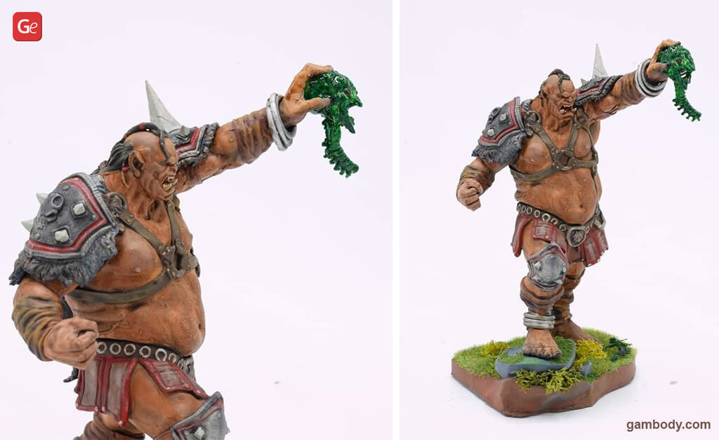 Warcraft Orc figure for 3D printing