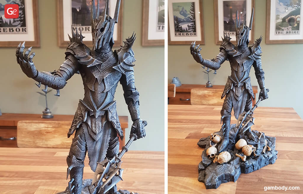 Lord of the Rings Sauron popular models to 3D print