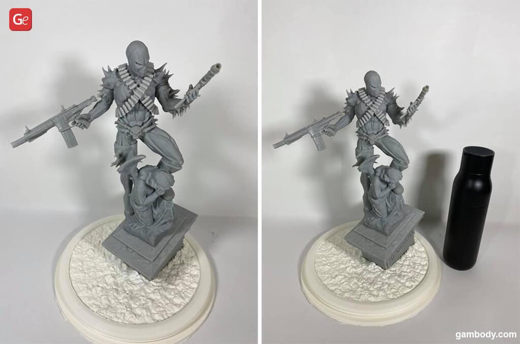Spawn impressive 3D printed figurine