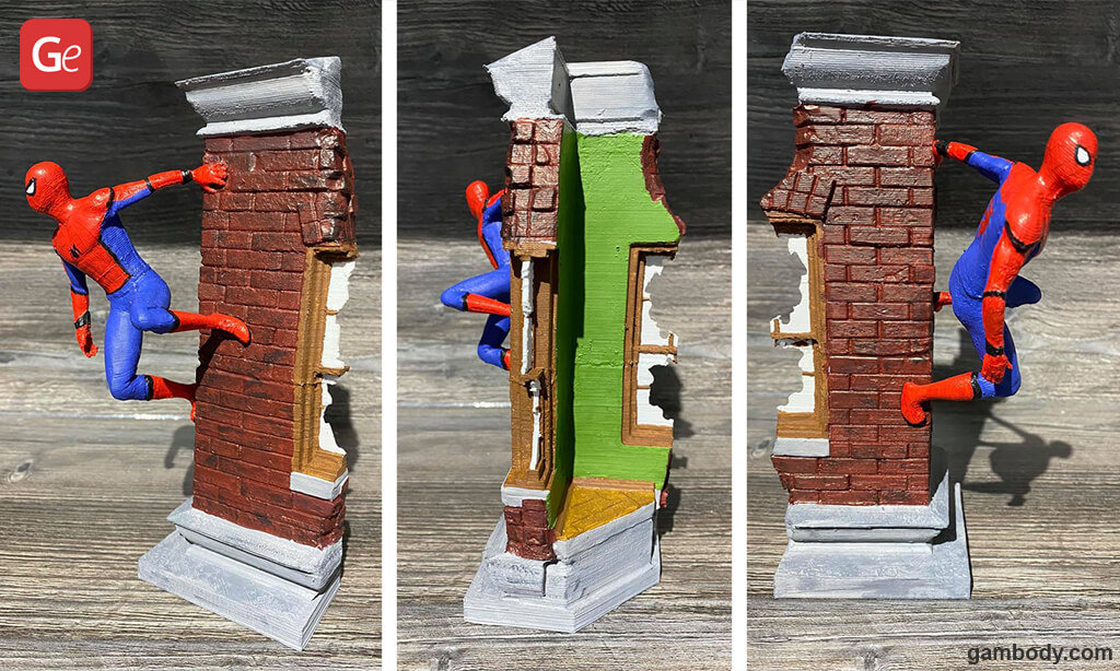 Spider-Man impressive 3D printed model