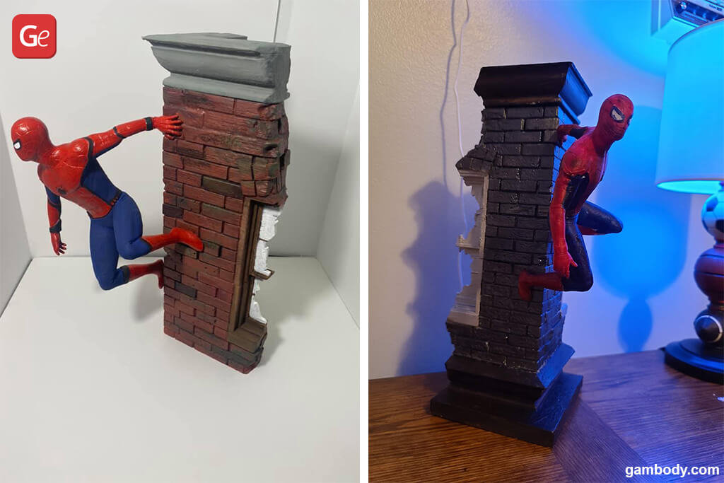 Spider-Man figurine for 3D printing