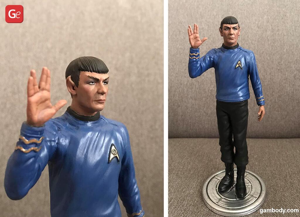 Spock figure from Star Trek impressive 3D print