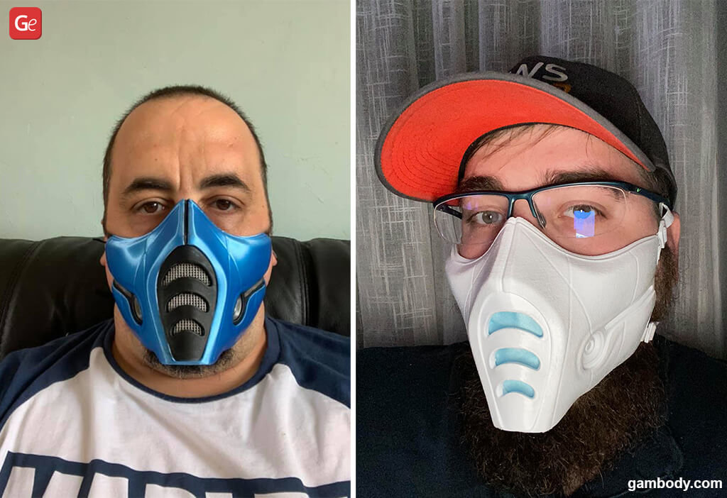 Sub-Zero face mask for 3D printing