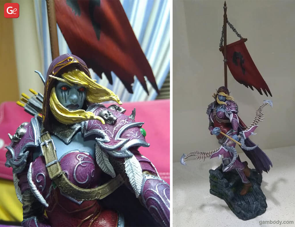 Sylvannas figurine popular WoW models to 3D print