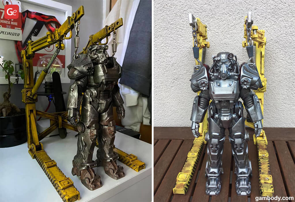 Fallout T-60 Power Armour model for 3D printing