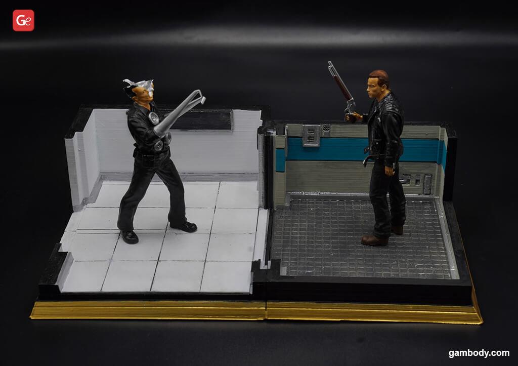 Terminator 3D printed diorama
