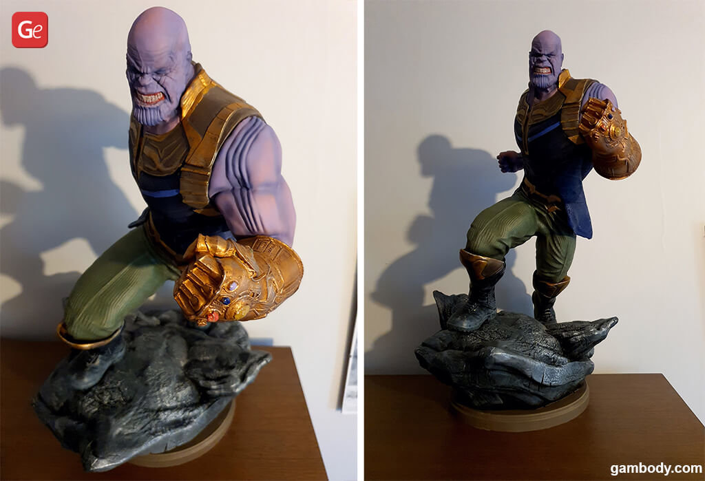 Thanos 3D print painted