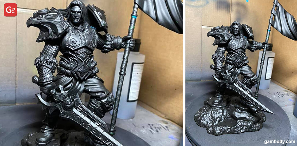 Varian Wrynn top 3D printed models
