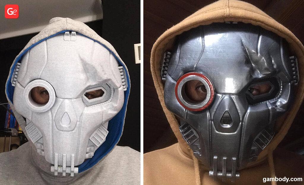 BattleMech Atlas mask 3D printed for Halloween