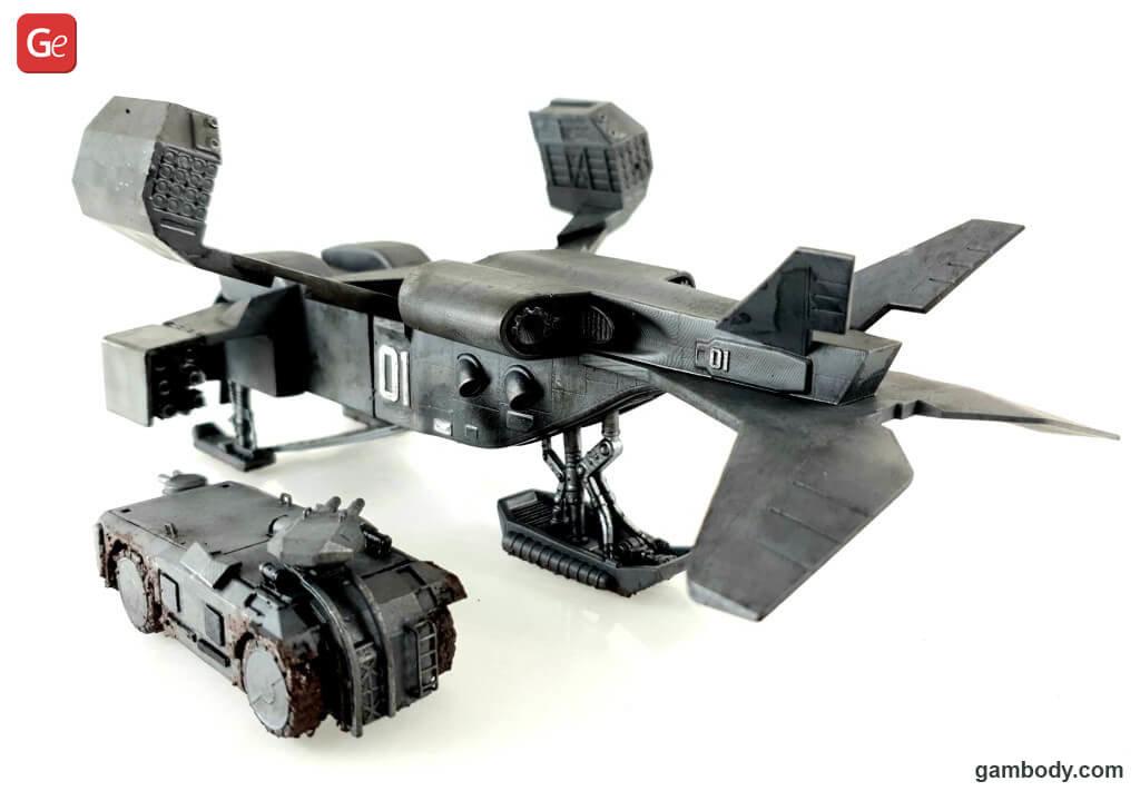 UD-4L Cheyenne Dropship and M577 3D printed models