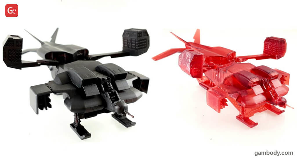 Cheyenne Dropship 3D printed model Alien