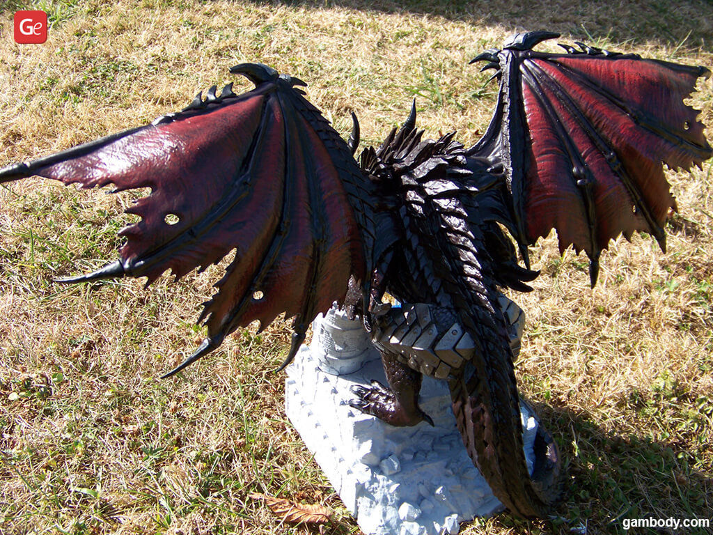 3D printed Deathwing dragon from WoW universe