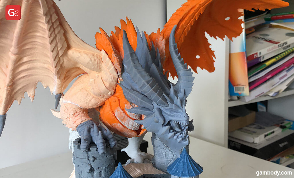 How to 3D print and paint Deathwing dragon figure from WoW