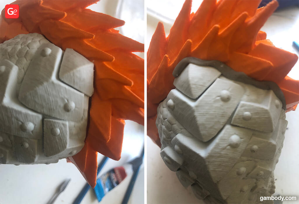 How to fill up gaps in 3D printed model