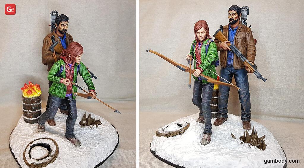 Ellie and Joel Miller figurines for 3D printing
