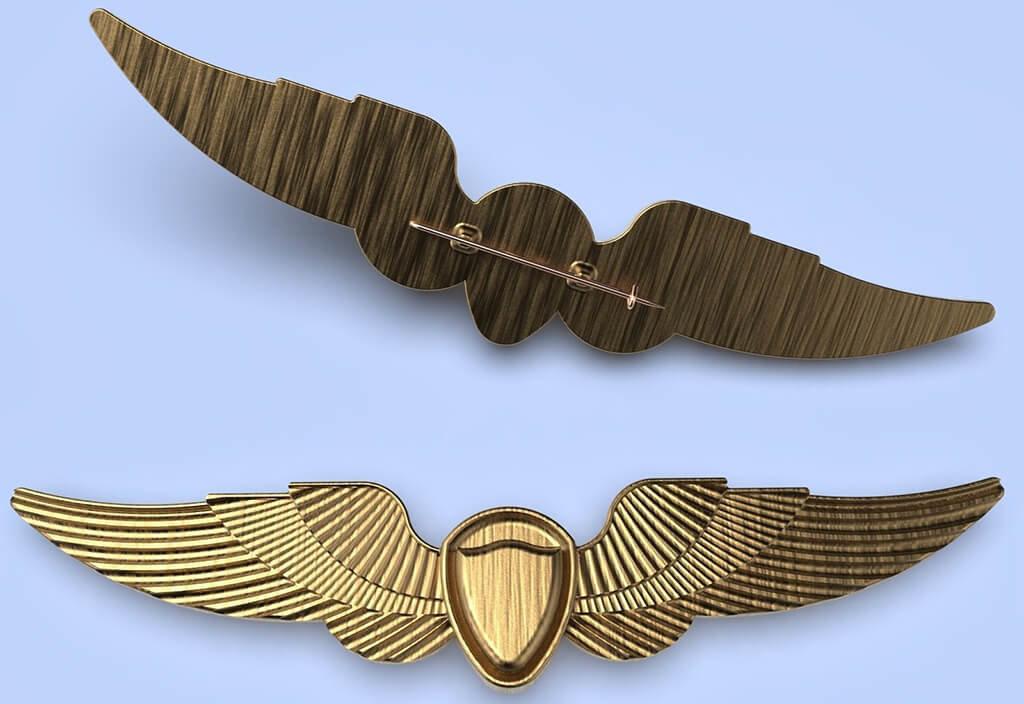 Ellie wings pin 3D print