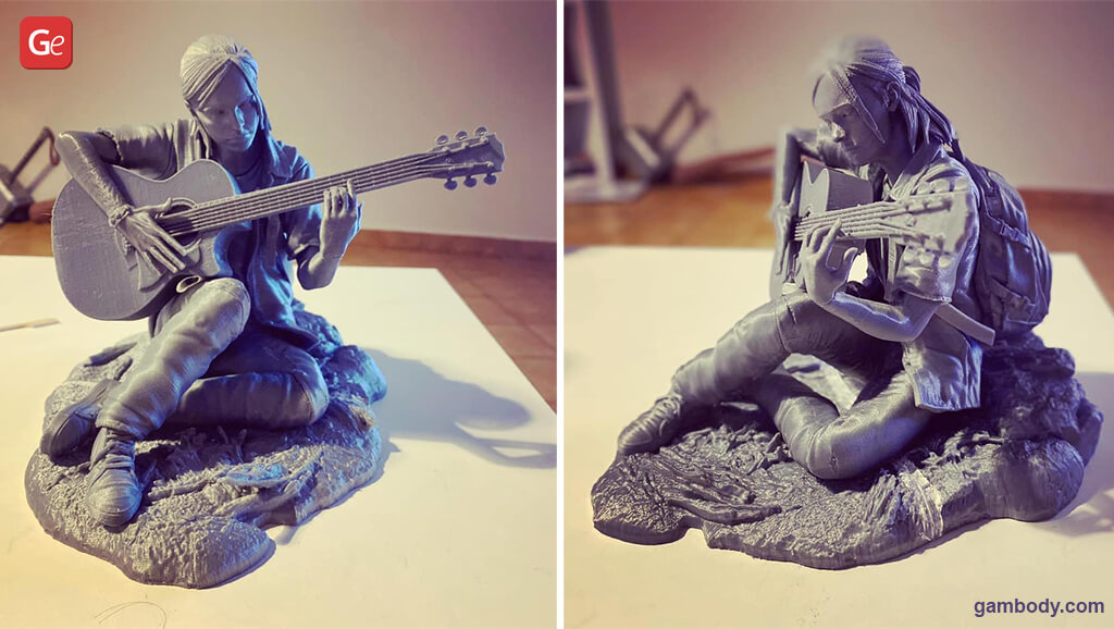 Ellie with guitar stl files for 3D printing model
