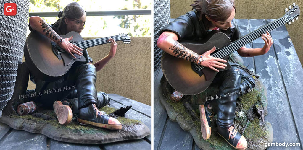 Ellie 3D model The Last of Us 2 for printing guitar