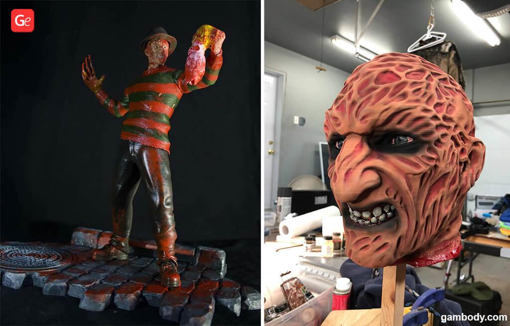 Freddy Krueger figurine for Halloween 3D prints