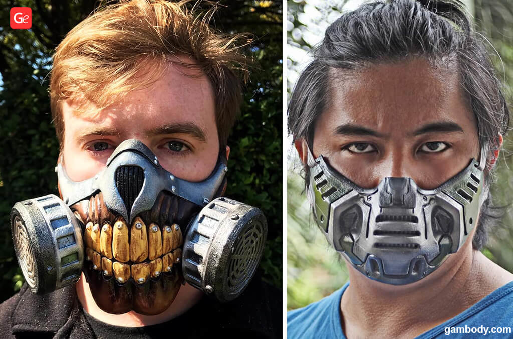 Immortal Joe and Doom Slayer face masks for Halloween