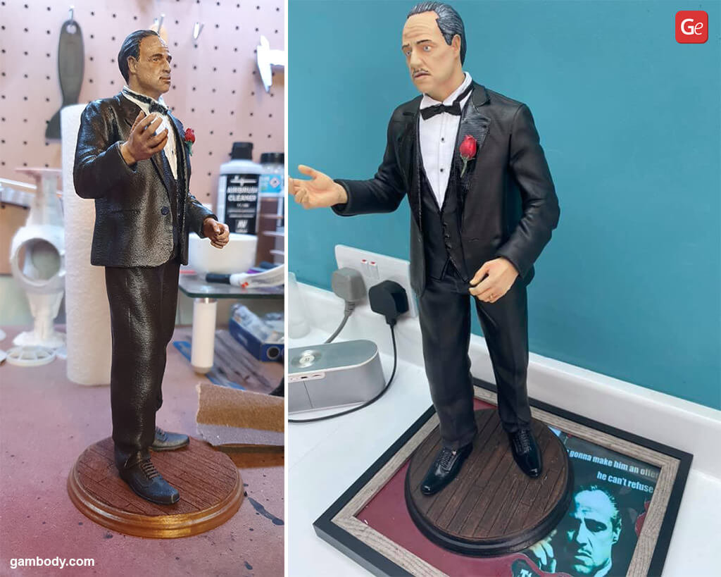 The Godfather figure for 3D printing