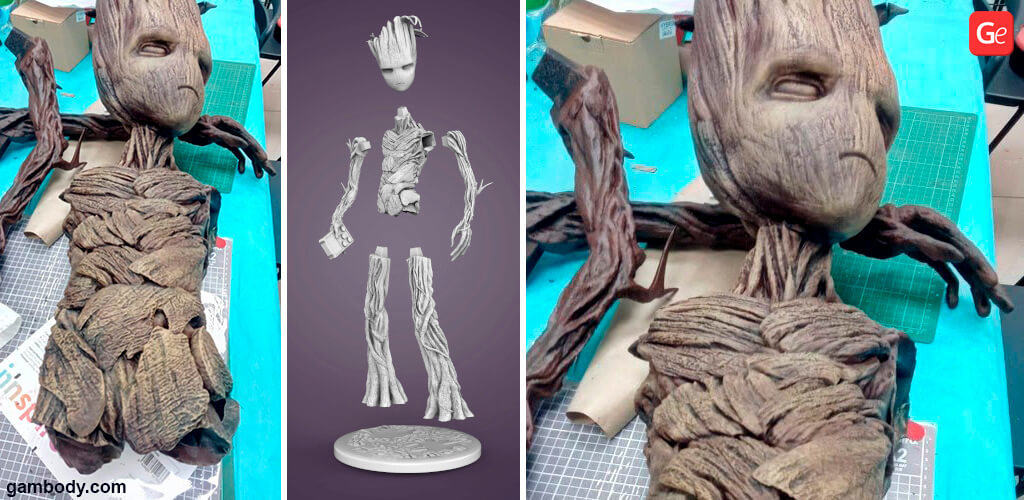 Teenager Groot figurine for 3D printing