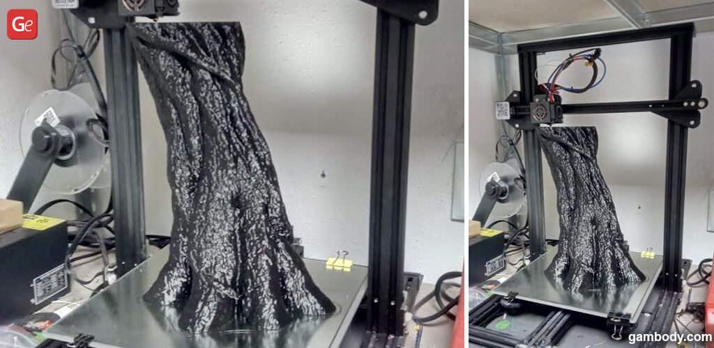 Life-size Groot let on a 3D printer