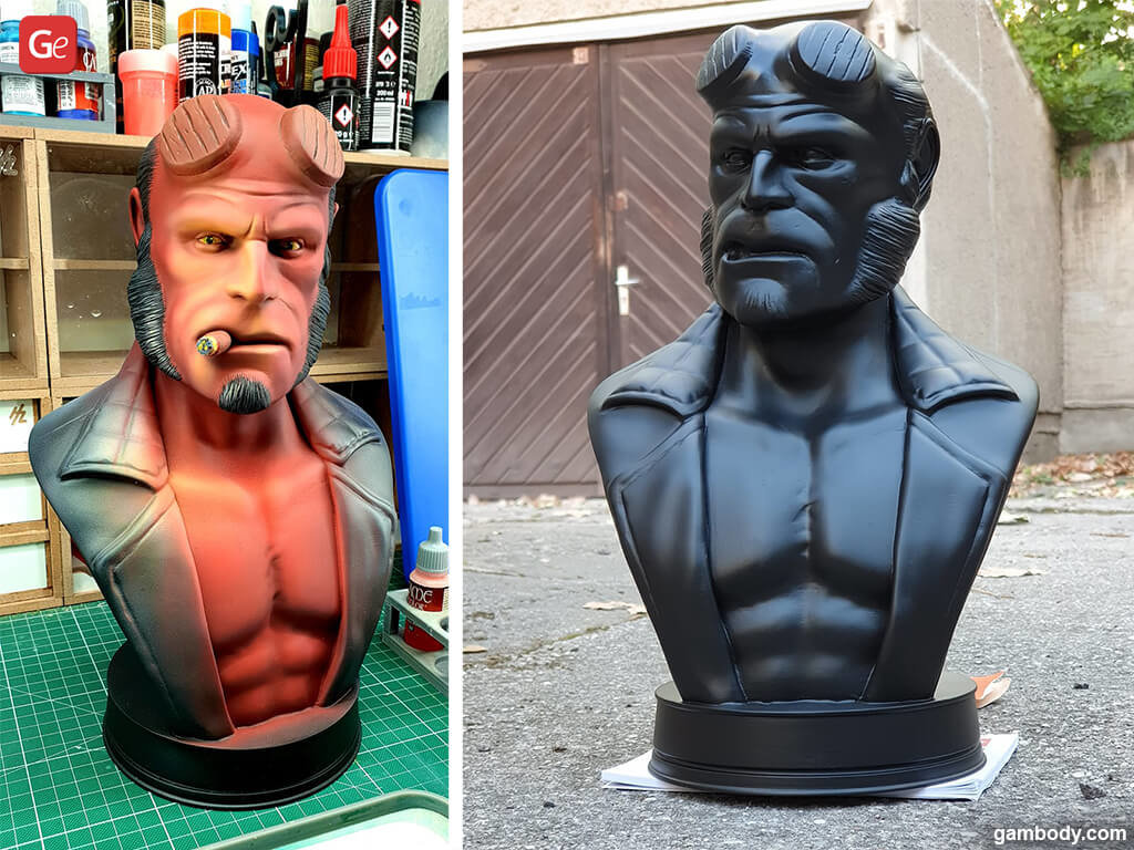 Hellboy Bust STL files for 3D printing