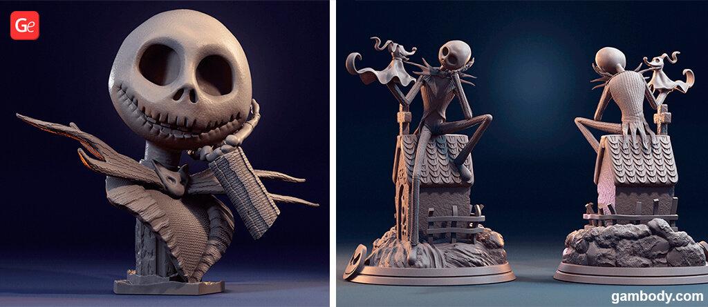 Jack Skellington Pumpkin King of Halloween Town for 3D printing