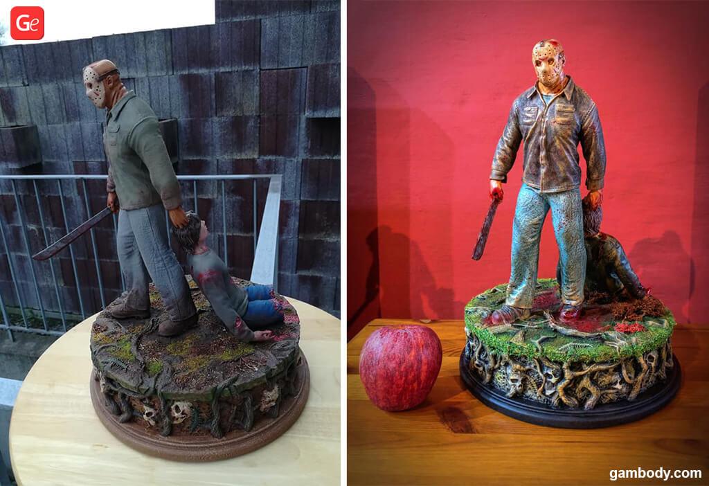 Jason Voorhees figurine for 3D printing