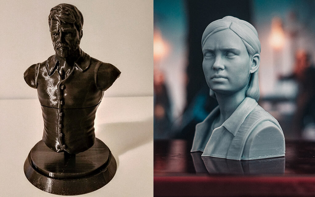 Joel and Ellie bust for 3D printing