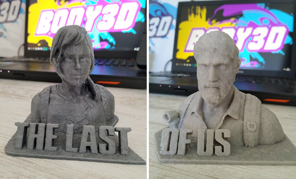 The Last of Us Ellie and Joel busts to 3D print