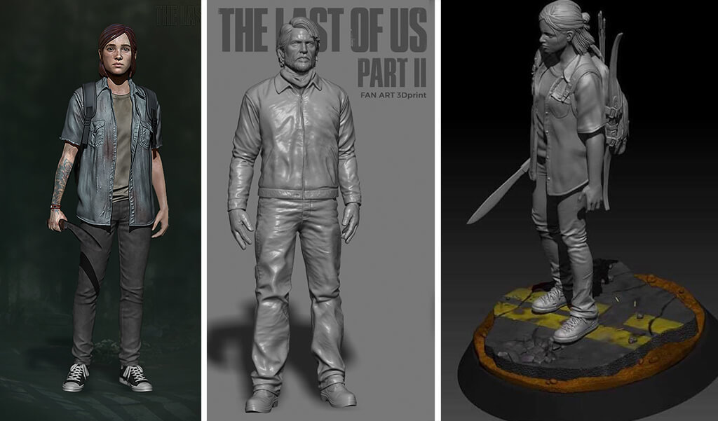 The Last of Us Joel and Ellie figure for 3D printing